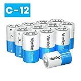 Best C Batteries - VONIKO Ultra Alkaline 12 C Batteries - Size Review