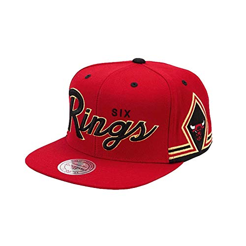 Mitchell & Ness Chicago Bulls Six Rings Erwachsene Snapback Hat (OS)