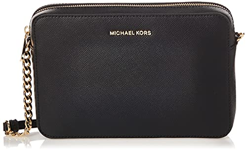 Michael Kors Jet Set Large, Borsa a Tracolla Donna, Nero (Black), 5x15x20...