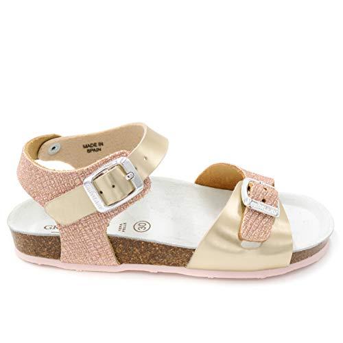 GRUNLAND Junior SB1248 DEHA Sandalette BAMB. P./S. Puder 35