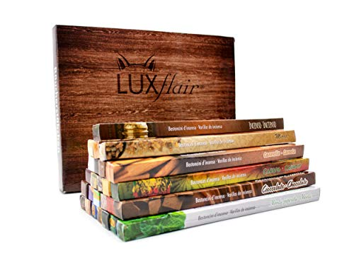 Premium Räucherstäbchen Mix von Luxflair: 26 unterschiedliche Packungen von fruchtig bis klassisch, Winter Edition XXL Großpackung, Set original indischer Räucherstäbchen für kalte Jahreszeit