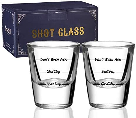 Shot Glasses Set of 2 Funny Heav Discount is also underway Women Men High quality Drinking for Gifts