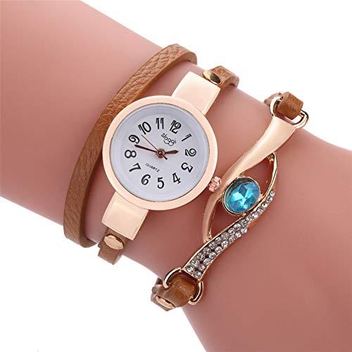 FDIJM Art- Und Weisefrauen Retro Pfau Armband Saphir Simulation Sport Handgelenk Uhr, Bw