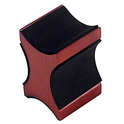 1 soporte de cuello para guitarra, soporte universal de escritorio para guitarra acústica eléctrica y bajo, instrumento de la cuerda de Luthier configuración de limpieza herramienta de reparación, No nulo, café, 95 x 65 x 60.5mm