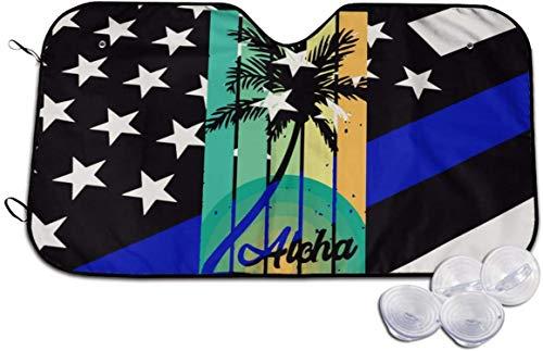 Aloha - Parasol para Coche de Verano Tropical, bloquea el Sol, Protege el Interior, Fresco, Universal para Coches, SUV, camión, Bonito, Divertido, Blanco, 51,2 x 27,5 Pulgadas
