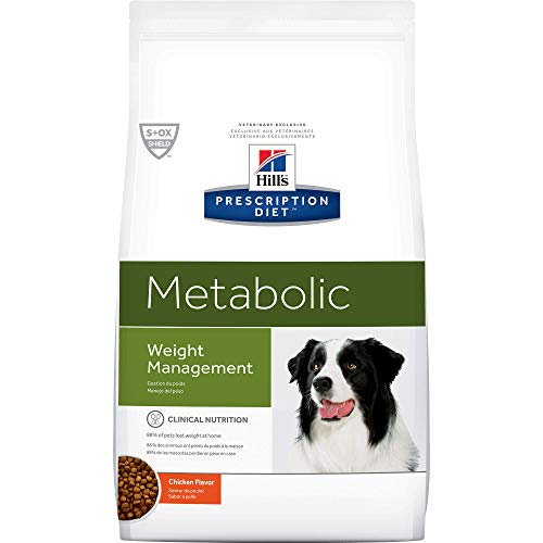 HILL'S PRESCRIPTION DIET Metabolic Weight Management Chicken Flavor Dry Dog Food, 27.5 lb bag, White (1953)