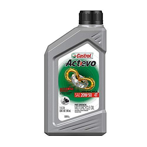 Castrol 06409-6PK Actevo Xtra 20W-50 4-Stroke Motorcycle Oil - 1 Quart, (Pack of 6)