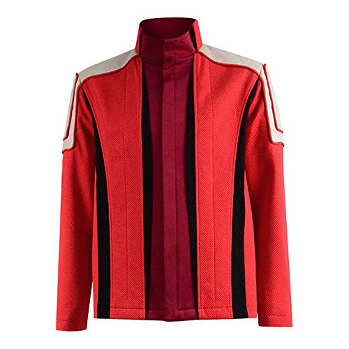 Mens Dr Eggman Costume Adult Red Jacket Coat Halloween Cosplay(XL,Red)