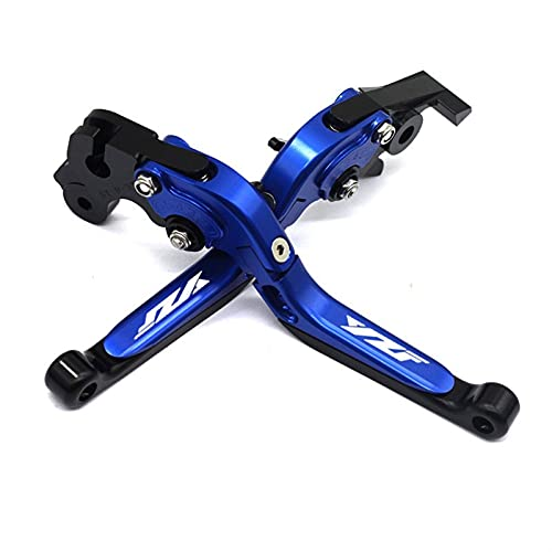 Motorcycle Brake Lever Clutch Lever, for Yamaha YZF-R3 R125 R25 R6 YZF-R1 R15 V3 2015-2020 Motorcycle Aluminum Brake Clutch Levers Adjustable Handle Grips YZF Logo (Colour : B, Series : YZF-R3)