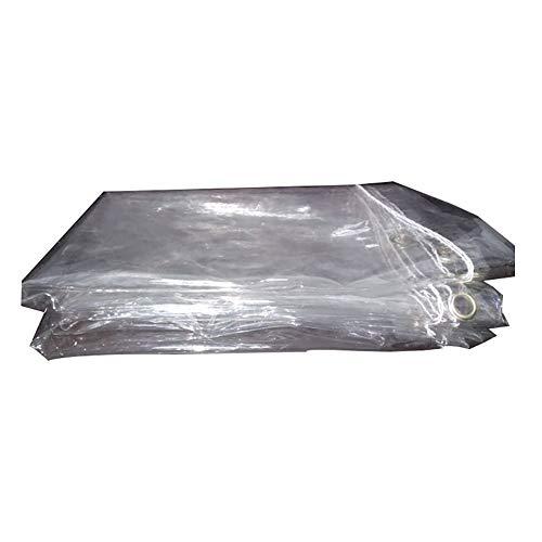 Plane 0,3 mm Dicke Transparente wasserdichte Sonnenschutz Windschutzscheibe Windschutz Balkon Regen Tuch PVC Weichen Gummi Sukkulenten Regen Tuch Film (Size : 1.1m×1.1m)