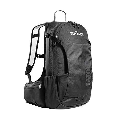 Tatonka Fahrradrucksack Baix 12L - Kleiner, leichter Outdoor-Rucksack mit Helmhalterung und 12 Liter Volumen - Damen und Herren - schwarz