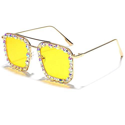 LWY Gafas de sol decorativas de metal con marco de protección UV para niñas, adecuadas para fotos de viaje (color: C1)