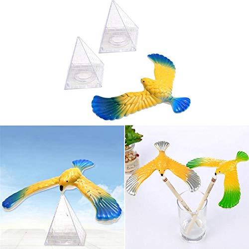 Hete-supply Balancing Bird Toy, Innovative Balance Bird Eagle Kinderen Volwassen Trompet Klassieke Puzzel Nostalgische Speelgoed, Drijvende Vogel Klein, 1 Adelaar, 2 Toren