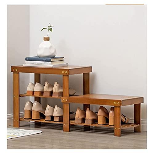 IW..HLMF Scarpiera, scarpiera in bambù scarpiera, scarpiera a 2/4 Livelli, organizzatore, scaffale, mobiletto, Supporto da banco per Ingresso, corridoio, Durevole e Stabile, scarpiera