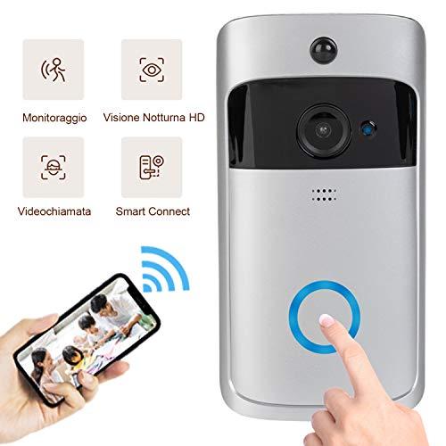 Il video citofono wireless, 1280 * 720p, Sistema di sicurezza intelligente, WIFI Camera HD, Guardando in tempo reale/Comunicazione Audio con cancellazione rumori, Rilevazione dì movimento PIR