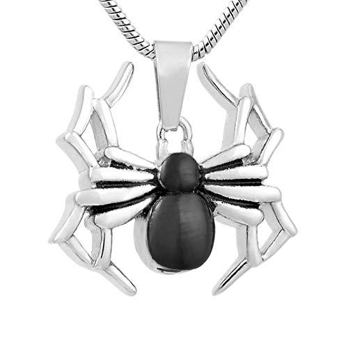 Wxcvz Collar para Cenizas Animal Araña Personalizado Memorial Ceniza Recuerdo Urna Cremación Joyería Urna Colgante Collar Moda Superior