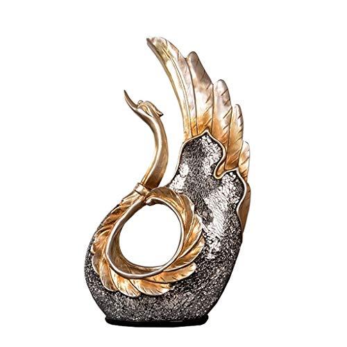 WYBFZTT-188 Cisne de Resina Escultura Decoración Set Creative Home Entrada Salón TV Gabinete Adorno Regalos Adornos