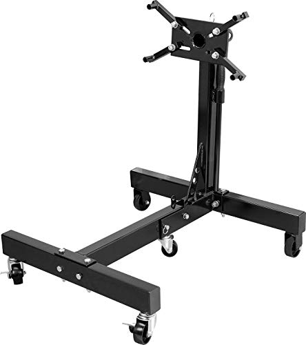 Torin AT26801B Steel Rotating Engine Stand with 360 Degree Rotating Head and Folding Frame: 3/4 Ton (1,500 lb) Capacity, Black