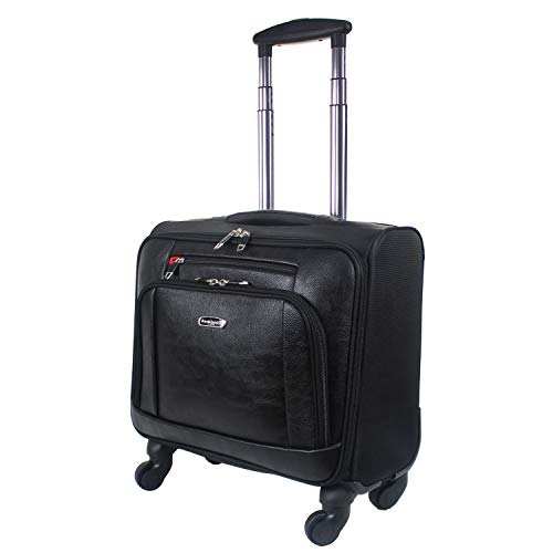Wheeled Laptop Briefcase Business Office Bag Laptop Trolley Case Pilot Case Travel Cabin Bag 814