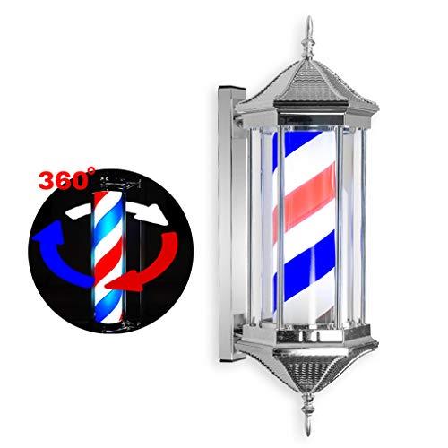 Barbierstaaf lichtbol Shop Salon licht bord muur lamp, waterdicht traditioneel wit zwart rood blauw verlichting, roterende strepen met LED-lamp 70cm A
