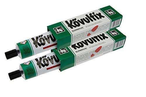 2 Tuben Koevulfix Rekord a30 g, 2 Tuben Kontakt Klebestoff Lederkleber für alle Zwecke. Gummi, Schuhe, Filz, Kork, Leder und mehr. Hochwertiges Produkt Made in Germany