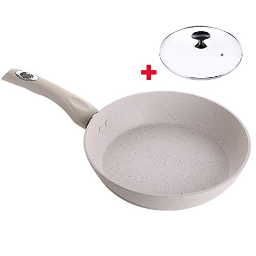 Nonstick Frying Pan Skillet, Frying Pan with Lid Best Nonstick Omelette Skillet with Handle Egg Pan/Omelette Fry Pan Induction Compatible,8IN