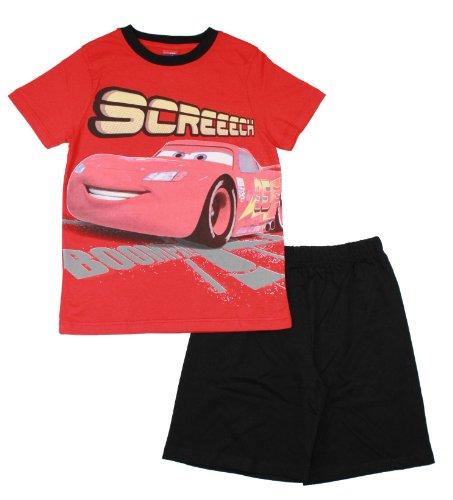 Disney Cars Shorty kurzer Schlafanzug (98863) rot schwarz, Gr. 128