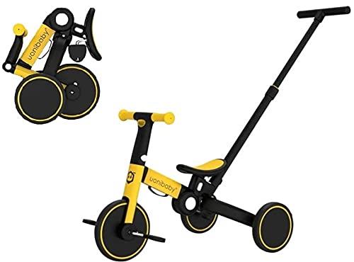Bicicleta plegable 5 en 1 con altura ajustable y plegable, para niños de 1 a 5 años, para niños y niñas