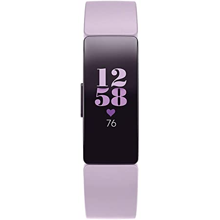 Fitbit Inspire HR Heart Rate and Fitness Tracker, One Size (S and L Bands Included), 1 Count