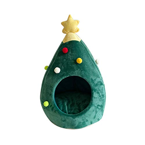 Juan-375 Pet Cable Dog House CASA DE Perro CABRADA CABRADA Cava Cava Caliente Caliente COVIDOR Cabeza DE Navidad Forma de Navidad Invierno Cara cálida Cat Dog Cave Tent Pet Regalo para Exterior /