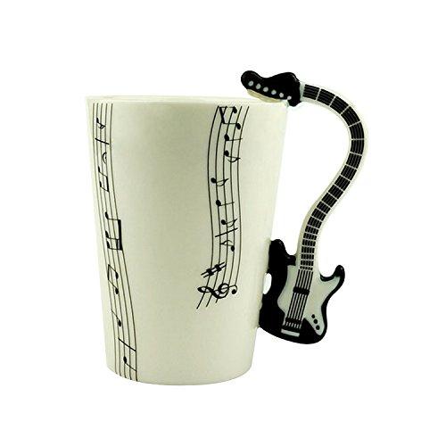 Generic Arts-3D, multifunzione da collezione Fine China-Tazza in porcellana, per Creative tè e caffè con manico a forma di chitarra
