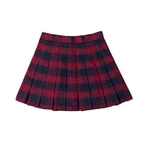 N\P Falda de cintura alta para mujer, falda plisada, falda de danza a cuadros, falda corta