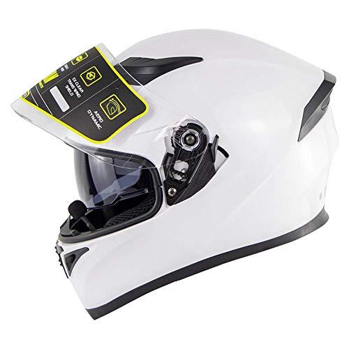 Cascos Bluetooth para motocicleta, modulares con doble visera, casco, sistema integrado de comunicación de intercomunicación, radio FM MP3, protección (color 4, tamaño: XL59 ~ 60 cm)
