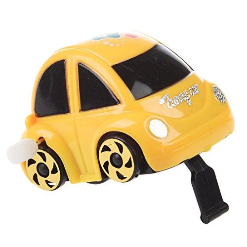 TOOGOO Jouet de voiture a ressort en plastique jaune pour les enfants