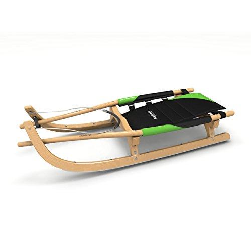 Kathrein Rodel Renn und Tourensportrodel Zweisitzer Rennrodel, schwarz, XL