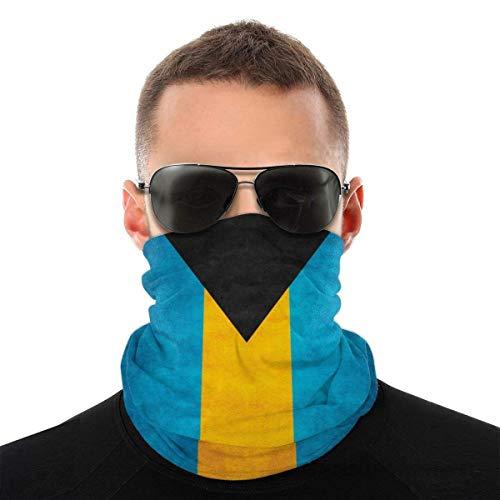 antoipyns Retro Bahamian Flag Seamless Bandana Rave Face Mask Women Men Neck Gaiter for Dust Wind Sun Protection