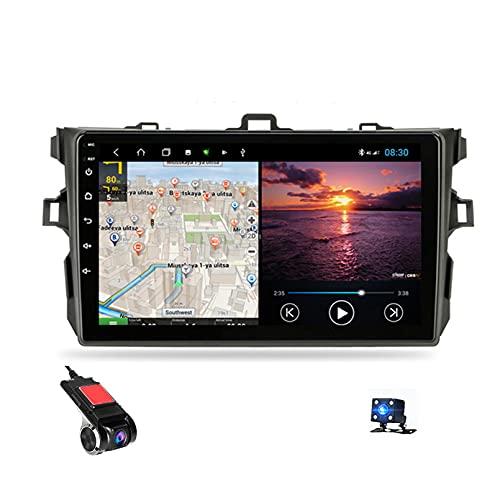 9' Android 10 Navigazione GPS Car Stereo Radio Lettore Video multimediale per Toyota Corolla E140 E150 2006-2013 Supporto Bluetooth Controllo del Volante USB WiFi Das(Size:B,Color:4G+carplay 2G+32G)