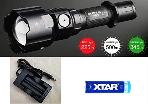 klarus FH10 Collimator mit Farb LEDs Jagdlampe - mit 3500 Akku und Ladegerät