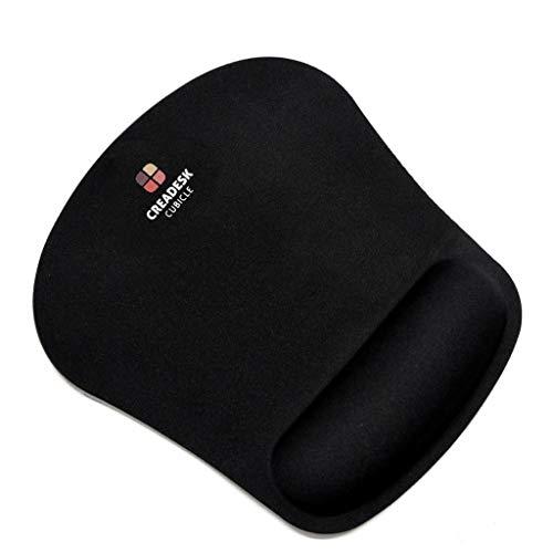 Creadesk Premium Mousepad, Ergonomisches Mauspad mit Handauflage, fransenfreie Ränder