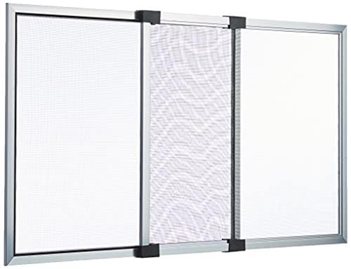 Vigor 0075005 Iride - Zanzariere Estensibili Anodizzato, 50 x 40/ 92 x 40 cm