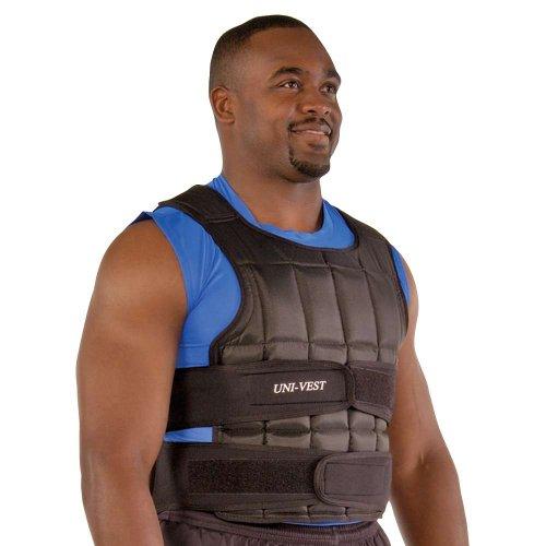 Power Systems Uni-Vest, Gewichtete Workout-Weste mit abnehmbaren Gewichten, Kurze Größe, schwarz (13082)