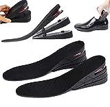 3 capas de aumento de altura Plantillas de zapatos Elevador Kit de elevación de hasta 7 cm 2.8 'Unisex Cojín de aire Almohadilla del talón Boot Insertar Taller