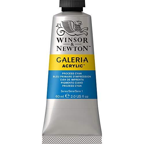 Winsor & Newton Galería - Pintura Acrílica , 60 ml, Azul (Process Cyan)