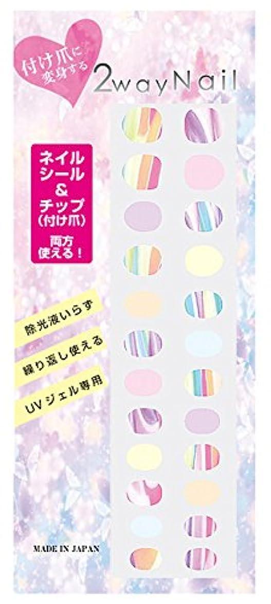 2way Nail 【簡単に剥がせるジェルネイル シール&チップ】 デザイン ピンクマーブル