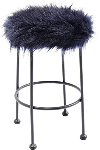 Kare kruk Ontario Fur (HxBxT) 49 x 30 x30 cm donkerblauw
