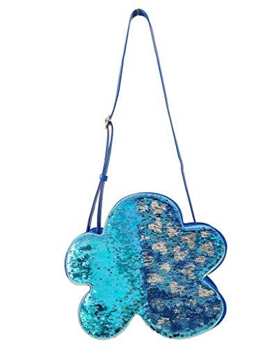 Agatha Ruiz de la Prada Umhängetasche für Damen, große Formen, wendbar, mit Pailletten, Blau - blau - Größe: Einheitsgröße