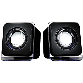 Terabyte Mini USB2.0 Speaker Compatible with PC, Laptop and Tablet (Black)