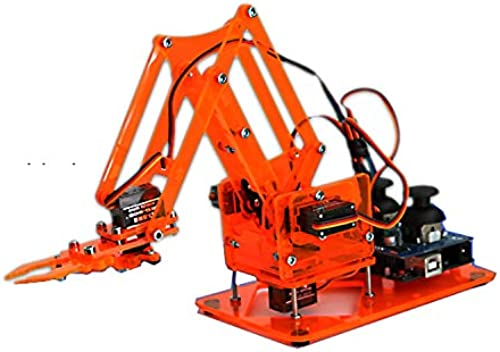 venta mundialmente famosa en línea LaDicha DIY Kit De Brazo Brazo Brazo De Robot Mecánico Colorido con Controlador Infrarrojo Servo De Metal para Arduino - naranja  ventas directas de fábrica