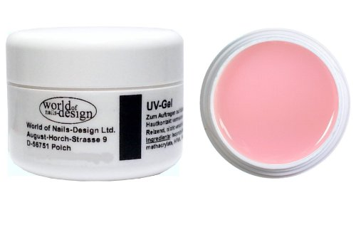 World of Nails-Design BasicLine UV-Gel Aufbaugel rosa milchig 30 ml, Babyboomer Look