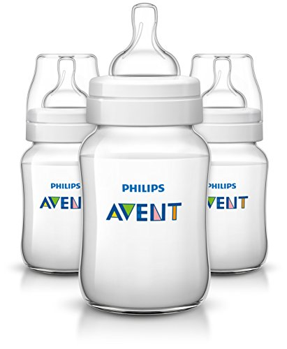 Image of Philips Avent Anti-colic Baby Bottles Clear, 9 Ounce (3 Count)